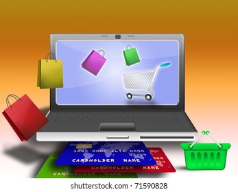 concept of buying online
