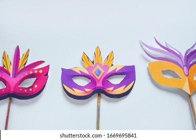 concept of carnival festival : Carnival mask on white background