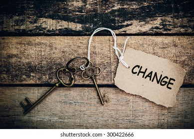 The concept of 'change' is translated by key and silver key chain