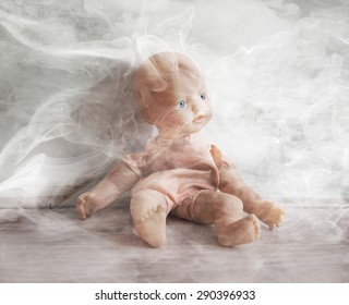 Concept of child abuse - Smoking in the vicinity of children