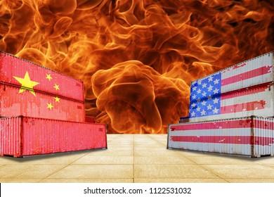 Concept, China-US trade war
