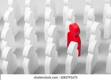 Concept is the choice of special employee of the leader. Person who goes against the direction of the crowd in the opposite direction, not like everyone else.