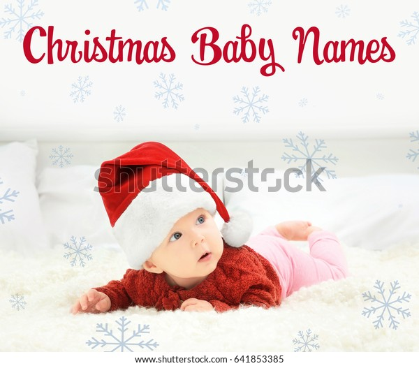 Concept Choosing Christmas Baby Names Little Stock Photo Edit Now 641853385