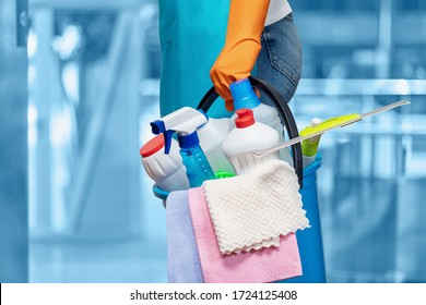 The concept of cleaning the premises and providing home services.
