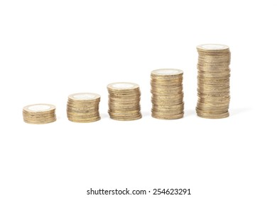 Concept of coin financial growth up diagram