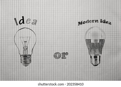 concept comparison of modern ideas with old ideas