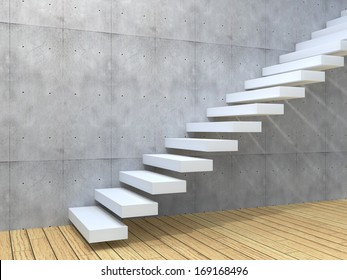 Concept or conceptual brown wood or wooden stair or steps near a wall background on  floor,metaphor to architecture,success,climb,business,staircase,stairway,rise,achievement,growth,hope or future