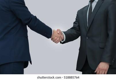 concept of confidence in partner - handshake of business partner