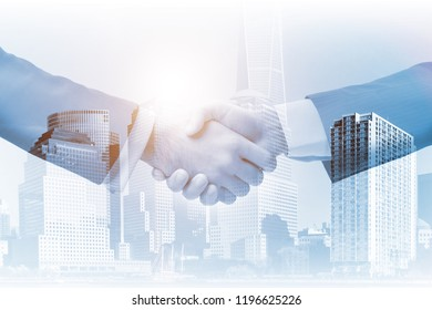Concept of cooperation with handshake