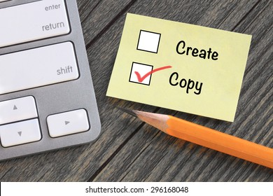 concept of copy, as opposed to create