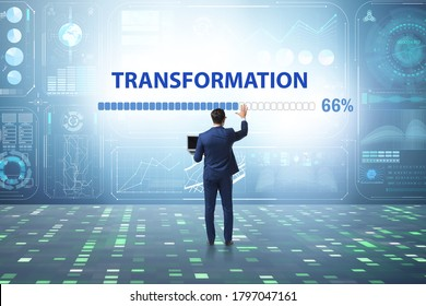 Concept of corporate business transformation