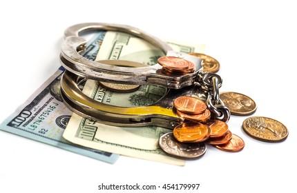 Concept For Corruption, Bankruptcy Court, Bail, Crime, Bribing