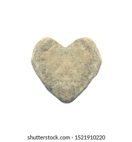 concept of cruel, callous, indifferent person. heart-shaped stone. man with stone heart.