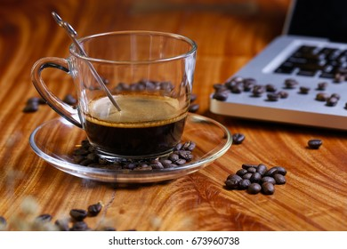 Concept for design and advertising, coffee, coffee beans, coffee break