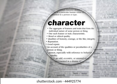 Concept design for the word 'Character'.