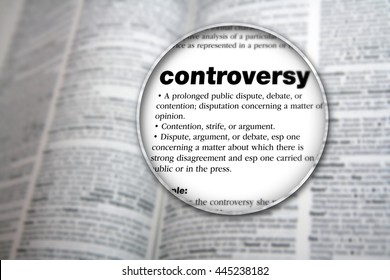 Concept design for the word 'Controversy'.