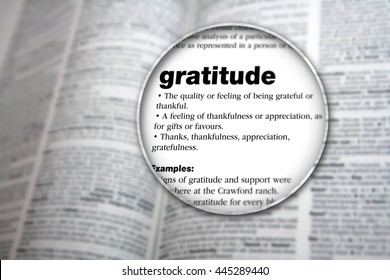 Concept design for the word 'Gratitude'.