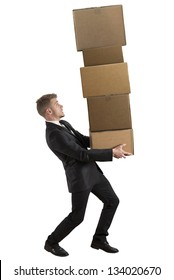 Concept of difficult career of a businessman