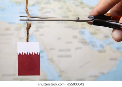 Concept of diplomatic ties cut from Qatar
