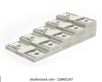Concept dollar bar chart graph