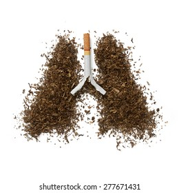 Concept  effects of cigarette smoking - lung cancer