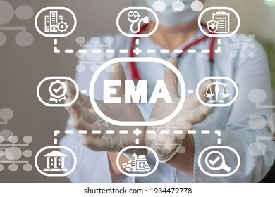 Concept of EMA European Medicines Agency. Drugs evaluation and quality control.