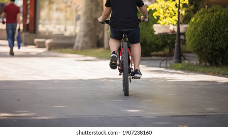 Concept for exercise by riding a bicycle in park