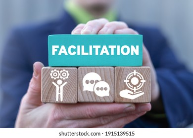 Concept of facilitation. Business and finance facilitating.