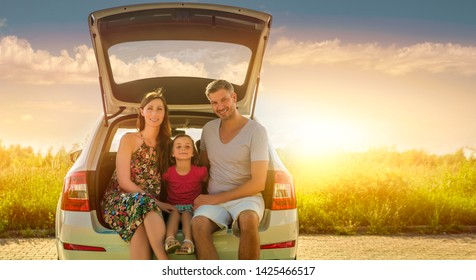 concept of family car insurance or rental cars
