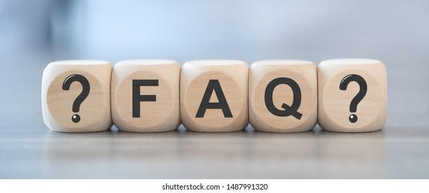 Concept of faq on wooden blocks