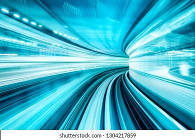 Konzept der schnellen modernen Technologie mit hellblauer Farbe