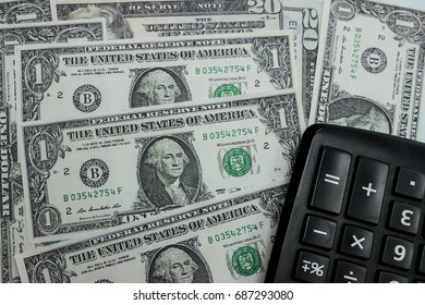 Concept Finance with Us Dollar and Calculator