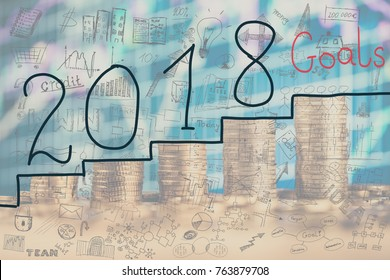 Concept of Financial Goal for 2018.