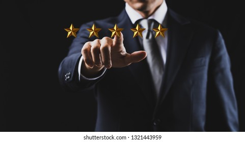 Concept of five stars rating