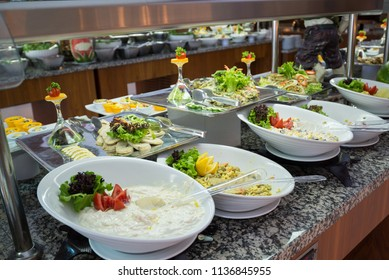 Concept of food All-inclusive buffet-style in Turkey