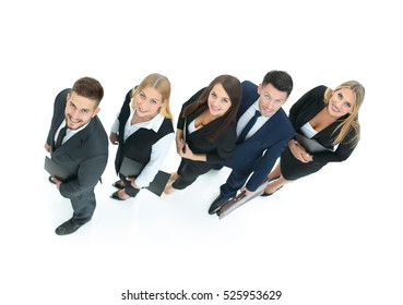 concept of a friendly and successful business team as the key to
