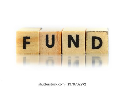 Concept of fund text on small wooden blocks