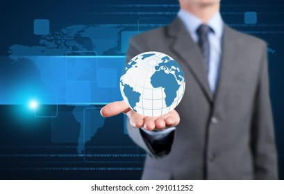 Concept, globalization, icon.
