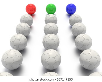 A Concept Graphic featuring a stylized leadership or teamwork ideas, depicted through a soccer ball sphere theme.