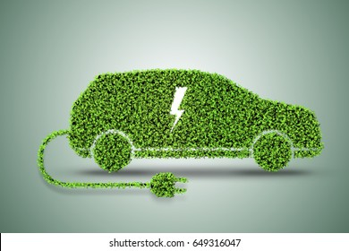 Concept of green electric car