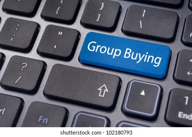 concept of group buying, new trend of online shopping.