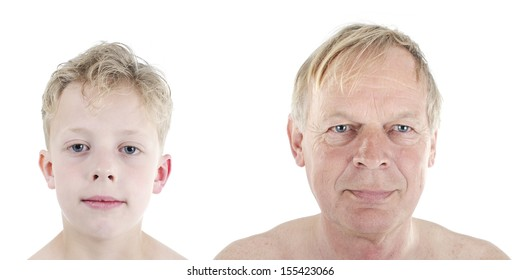 Concept of growing old or aging