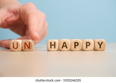 The concept of happy and unhappy as an antonym and change