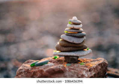 Concept of harmony. Rock Sculpture Art.