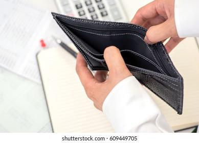 Concept of having no money