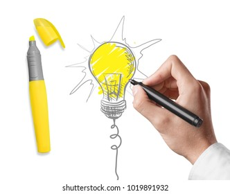 Concept idea and innovation with paper