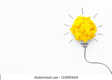 Concept of idea and innovation with paper ball
