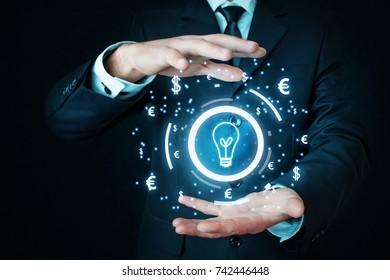 Concept of idea and success.