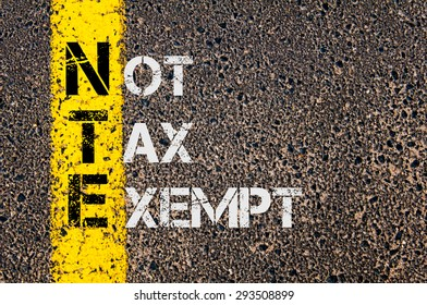 Concept image of Business Acronym NTE as Not Tax Exempt written over road marking yellow painted line.