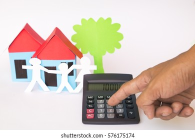concept image of buying home, investment and business